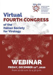 Virtual Fourth Congress of the Italian Society for Virology - Webinar - December 11th, 2020